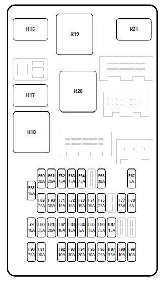 passengerbay fusebox internal jaguar x type passenger bay fuse box 2006 jaguar x type fuse box diagram at couponss.co